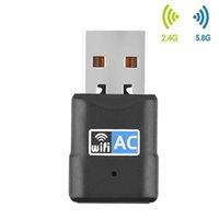 600 Мбит / с USB WiFi Адаптер Бесплатный драйвер RTL8811CU Двойной диапазон 2.4G 5 ГГц Беспроводной приемник Network Card 600M USB Ethernet County