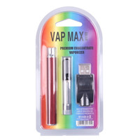 Vap Max W3 Kit 350mAh Vertex Разогреть батареи В. Переменный Напряжение 510 Подогрев Vape 0.5ml 1мл Картридж Fit Испаритель