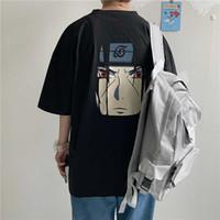 Erkekler Anime Naruto Tişörtler Kadınlar Grafik Tees Gevşek Harajuku Ulzzang Tee Streetwear Koreli Giyim Tops