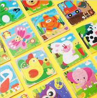 24 estilos 16 peças Puzzle de madeira animal dos desenhos animados plana de madeira quebra-cabeça de brinquedo atacado feitos sob encomenda crianças quebra-cabeça
