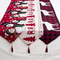 Kerst Tafel Runner Xmas Tafelkleed Extra Lange Tablerunner Diner Party Holiday Wedding Birthday Decoration My-Inf0361
