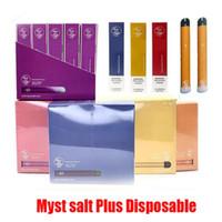 원래 Myst 소금 플러스 일회용 장치 포드 키트 650mAh 배터리 3.2ml 카트리지 Vape 빈 펜 1000 퍼프 정통