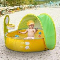 Bebé de la playa Carpa UV-protector Sunshelter niños pequeños juguetes Casa Toldo tienda impermeable portátil Ball Pool Kids Tiendas de campaña VT1638