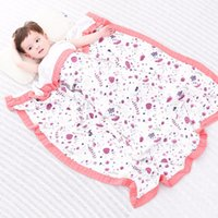 Tree Bamboo Wrap Muslin Four Bamboo Aden Purple Baby Blanket...