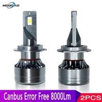 1 par LED de la linterna del coche H4 H7 faros LED de Canbus sin error de la H1 H8 H9 H11 9005 3 9006 4 Alta / de luz de cruce 24V 12V Hi / Lo Beam