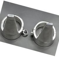 Nuovo design pesante acciaio inox ovale fetta di catena con tacco alto tacco alto caviglia polsini ritenuta per adulto bondage bdsm giocattolo del sesso per maschio femmina