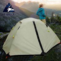 Hewolf 2 Person 4 Сезон палатки кемпинга Открытый палатки кемпинга 210T 210D Алюминиевые водонепроницаемый Пеший туризм 2.65kg Ultralight