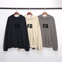 Fashion brand FOG embroidery letter printing thin hooded swe...