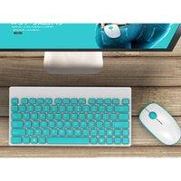 Teclado Mouse Combos Sem Fio Silencioso e Set Ultra-fino Bonito Combo Para Office Home Desktop PC Notebook Laptop C26
