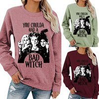 YOU COULDA HAD A BAD WITCH words print long sleeve shirts lo...