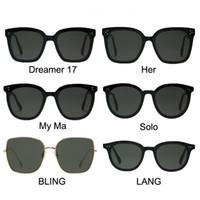 Neue Mode Frauen Spiegel Sonnenbrille und Sonnenbrille Box Für Männer mit 6 Arten Glase Schwarz Herren Sonnenbrille