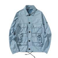 Topstoney 2020 Konng Gonng Turquia Original Blue Tye Technology Tecido Tecido De Costura Piano Pocketthin Estilo Mens Jaqueta