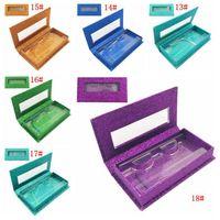 Glitter Rhinestone Lash Case 3D Mink Eyelashes Empty Custom Packing Boxes Glitter Rhinestone Lashes Cases Without Eyelash BH3218 DBC