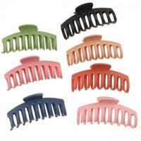 Muz Kalın Saç Pençe Klipler Kayma Önleyici Plastik Saç Pençe Klipler Güçlü Tutuş Ponytail Klipler