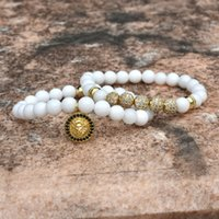 Nove perline per sempre bracciali Charms leone uomini braccialetto gioielli palla corona per le donne pulseira Masculina femme bileklik