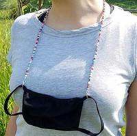 Freier DHL-Brille Verlängerung Lanyard Gesichtsmasken Sicherheitsablage Ear-Halter Seil 5 Styles Bunte Perlen String für Mask Anti-Verlust-Träger DHA993