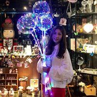 LED BOBO BALLOOT с 31,5 дюйма палка 3M струнный шар светодиодный свет рождественские Halloween день рождения воздушные шары вечеринка декор BOBO Balloons DHL бесплатно