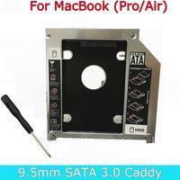 "250set Magnalium SATA 3.0 2nd HDD Caddy 9.5mm SSD Case Enclosure Optibay For Apple Macbook Pro Air 13"" 15"" 17"" Super Drive"