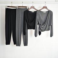 New Black Long Sleeves Latin Dance Costume For Women Jazz Practice Suit Rave Yoga Ballroom Street Dance Practice Costume BL4084