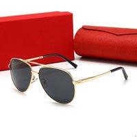 Cartier 2106 نمط رجل مصمم النظارات الشمسية المستقطبة للمرأة النحلة الصغير نظارات شمسية UV400 النظارات الشمسية مع القضية، وعلبة