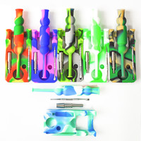 Silicone Nectar Collector kits with 14mm joint Ti Nail necta...