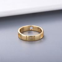 Estilo simple Pareja Personalidad Anillo de plata de la manera del anillo del amante de la estrella del anillo de alta calidad plateó el suministro