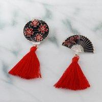 Pimleri, Broşlar Retro Japon Izakaya Ninja Fener Fan Püsküller Broş Sakura Erik Çiçek El Fringe Alaşım Emaye Pin Aksesuarları