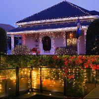 Noel saçağı dize perde açtı dış dekorasyon 5 metrelik droop 0.4-0.6m yılbaşı düğün çelenk ışık yanar yanar