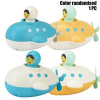 만화 잠수함 바람 장난감, 크리스마스 아이 생일 선물, 2-1 물, 물 시계 작동 장난감 아기 목욕 도우미 재생, 스프레이 수