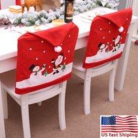 미국 주식 의자 커버 2020 최고의 크리스마스 장식 산타 클로스 부엌 식탁 의자는 크리스마스 휴일 홈 데코 하우스 드 쉐 FY716을 커버