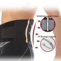 Placa Homens Mulheres cintura Trimmer Spine Suporte Belt Aço Suporte Acessórios Desporto Brace Gym Fitness Halterofilismo lombar