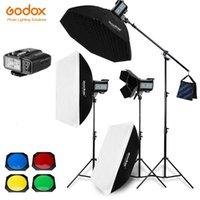 3x Godox QS400II / QS600II / QS800II / 2.4G QS1200II X1T trasmettitore Flash Strobe Studio configurazione senza fili della luce Softbox Kit di illuminazione