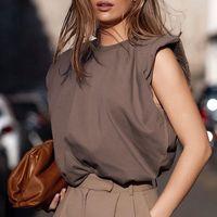 Beyaz Pamuk Kadın Tişört Gevşek O Boyun Camiş Katı Siyah Kadın Streetwear Casual Bayan t Gömlek 200925 Tops