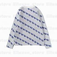 20ss diseñador para mujer para hombre del suéter del enrejado LUXE Pullover Hombres sudadera con capucha de manga larga activa del bordado de géneros de punto ropa de invierno