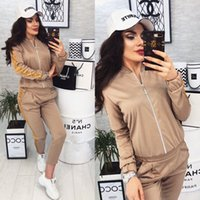 20FW Women's Tracksuits New Product Fashion Casual Sequin Stitching Grace Jacket High Quality Trousers Tracksuits Size S-XL