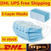 Schnelle Lieferung innerhalb von 24 Stunden Einweg-Gesichtsmasken mit elastischem Ohr Loop 3 Ply atmungsaktiv für Blocking Staub-Luft-Anti-Staubschutzmaske