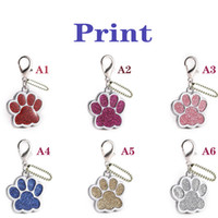 Tag personalizzato cane personalizzato Personalizzato Pet Pet Cucciolo di Pet Collare Accessori Inciso Cat Puppy ID Tag Metallo Paw Nametag Pendant Anti-Lost