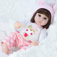 42cm de silicona muñeca Simulación Bebe Reborn niño suave para bebés Juguetes para niñas niño del cumpleaños de Navidad regalos c0924