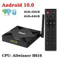 Tanix TX6S 안드로이드 10.0 TV 박스 4기가바이트 + 32기가바이트 / 64기가바이트 Allwinner H616 듀얼 2.4G + 5G 와이파이와 BT PK T95 X96 스마트 TV 박스