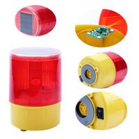 Solare di emergenza Strobe LED che avverte luce rossa per Notte Strada cono costruzione del segnale di sicurezza Semaforo Flicker Beacon lampada