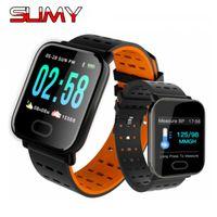 Slimy A6 الذكية ووتش القلب رصد معدل ضربات القلب الرياضة اللياقة تعقب النوم مراقب ماء الرياضة smartwatch ل ios الروبوت الهاتف