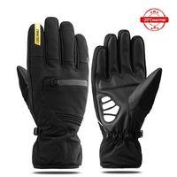 Велоспорт перчатки Открытый Спортивные перчатки Водонепроницаемый Зимний Теплый Тепловое сгущает Длинные перчатки пальцев MTB велосипед Мужчины Женщины