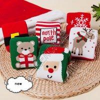 0-10T أطفال الأطفال فوط تيري جوارب عيد الميلاد سانتا إلك ندفة الثلج طباعة الكرتون جوارب شتاء دافئ الطفل الأطفال الصغار عيد الميلاد الجوارب DHC2185