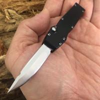 2 modeller Mini otomatik bıçak Benchmade bıçak T6061 kolu CNC VG10 çelik OUT çakı BM3300 Kamp taktik Survival Av bıçağı
