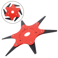 Universal 6 Teeth Brush Cutter Blade Trimmer Metal Blades Trimmer Head Garden Grass Trimmer Head for Lawn Mower Spare Parts