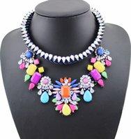 Chokers moda joyería shourouk flor gargantilla collar mujer declaración grande babero collar collares bohemia étnico colgante