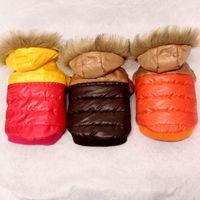Haustiere Winter Thermische Jacke warm schöne farbblockierte Haustierkleidung S M L XL Cold-Proof Hund Mantel Jacke Welpen Winter Haustier Kleidung VT1620