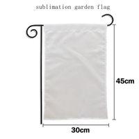Süblimasyon bahçe bayrağı boş ısı transfer baskı afiş düz termal polyester dekoratif bayraklar diy bahçe dekorasyon 30 * 45 cm TD491