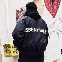 Il timore di Dio Essentials Raglan Bomber FOG Essentials palla pilota giacche autunno tuta sportiva di inverno per gli uomini le donne Hip Hop Streetwear