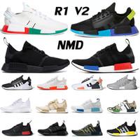 NMD R1 V2 متسابق الرجال النساء الاحذية مكسيكو سيتي قزحي الألوان أسود أبيض Nerd فارغة قماش أوريو المدربين الرياضة عداء في الهواء الطلق أحذية رياضية